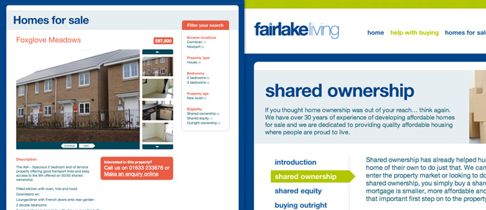Fairlake Living website property details page