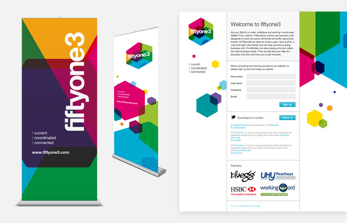 Fiftyone3 roller banners and website