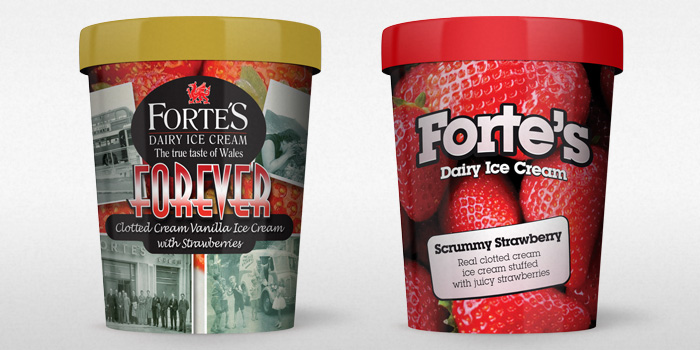 Ice Cream Packaging for Forte's