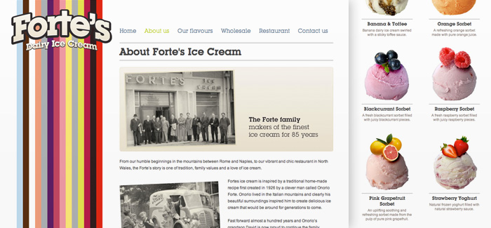 New website for Forte's Ice Cream