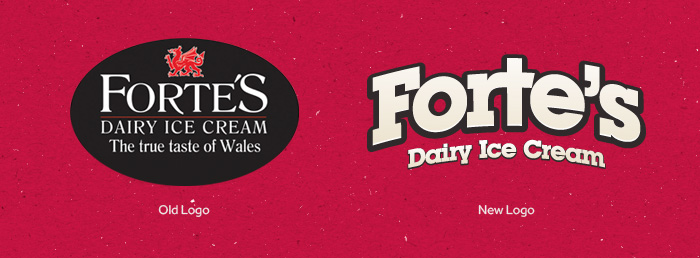 Forte's Ice Cream rebrand
