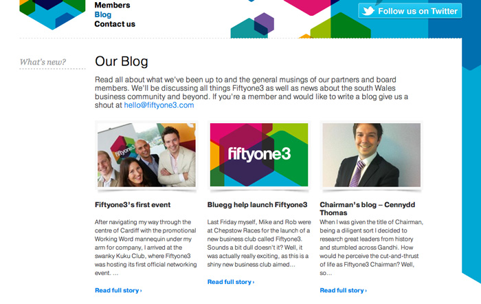 Fiftyone3 blog page