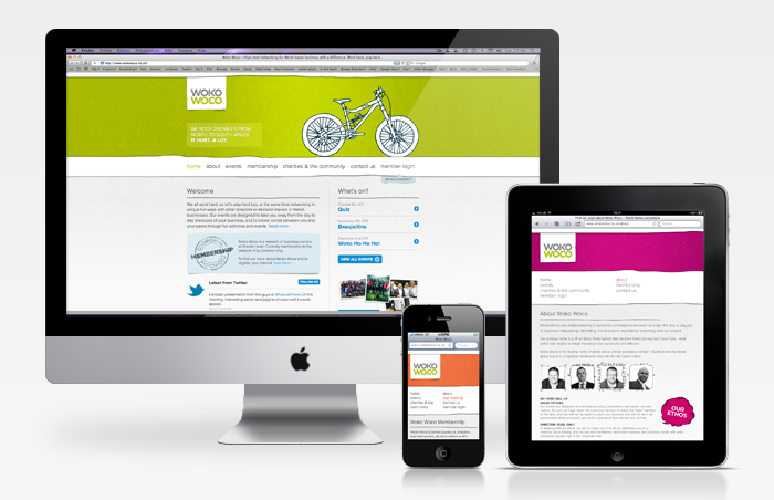 Woko Woco responsive website on multiple devices