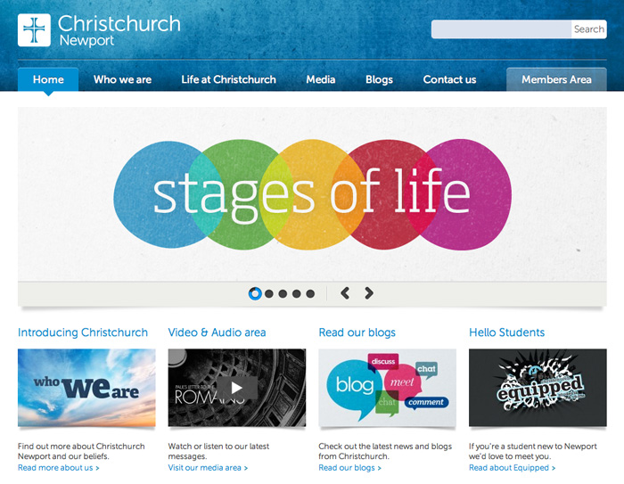 The new Christchurch website and refined branding