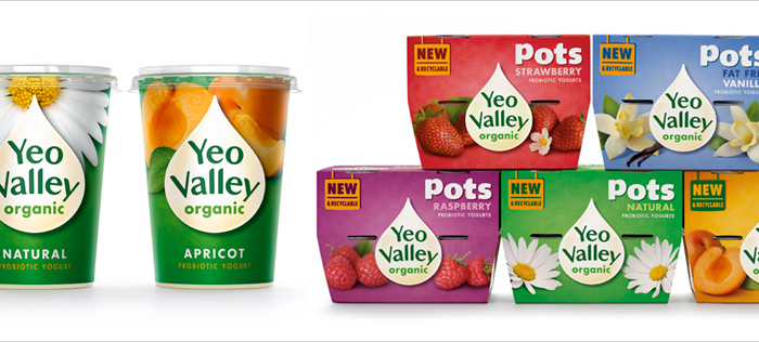 Yeo Valley packaging design by Pearlfisher