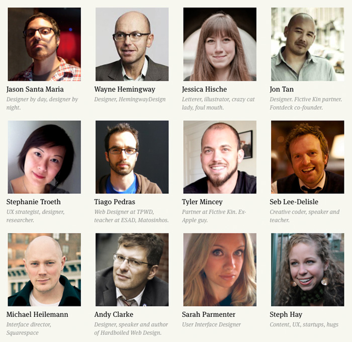 New Adventures in Web Design speaker line up