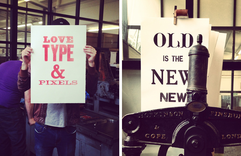 Our final wood type posters