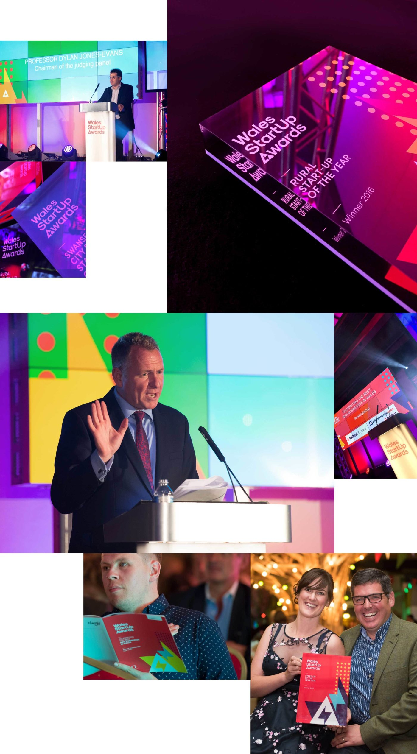 Images of the Wales StartUp Awards branding