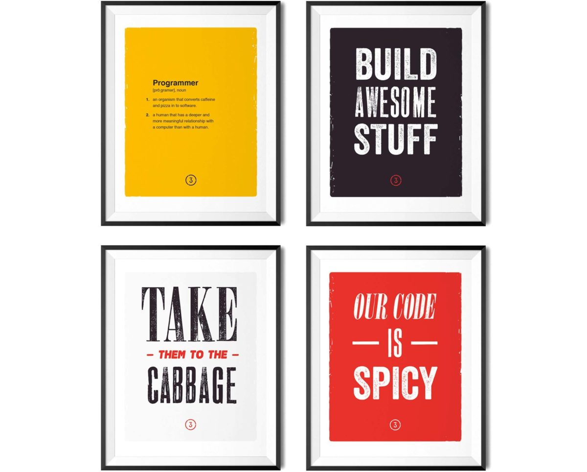 Framed prints for the 3Chillies office