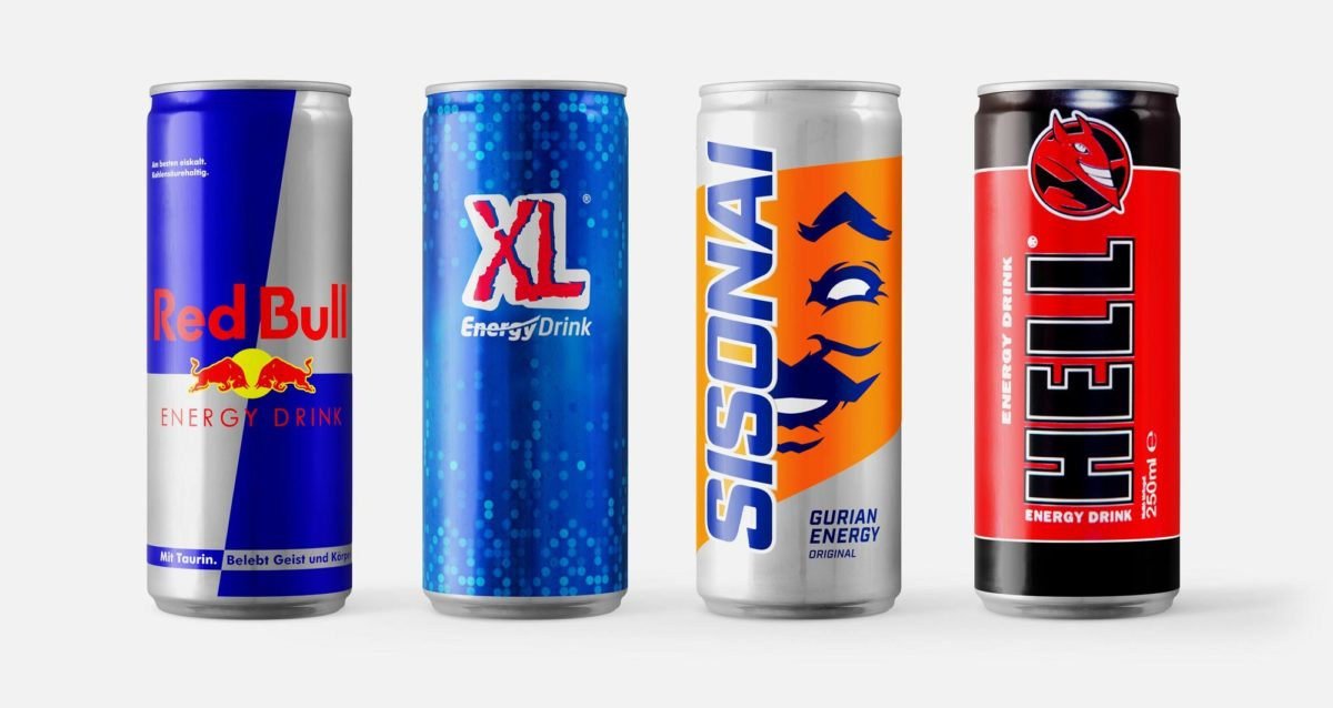 An image of of Sisonai amongst its competition, Red Bull, XL and Hell