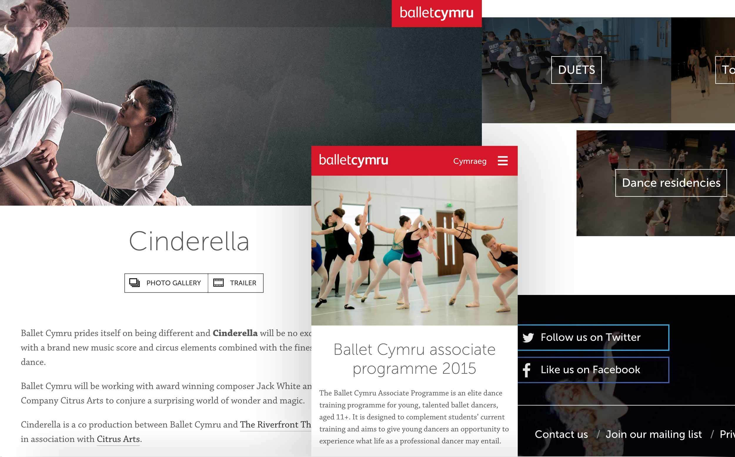 Images of the Ballet Cymru website