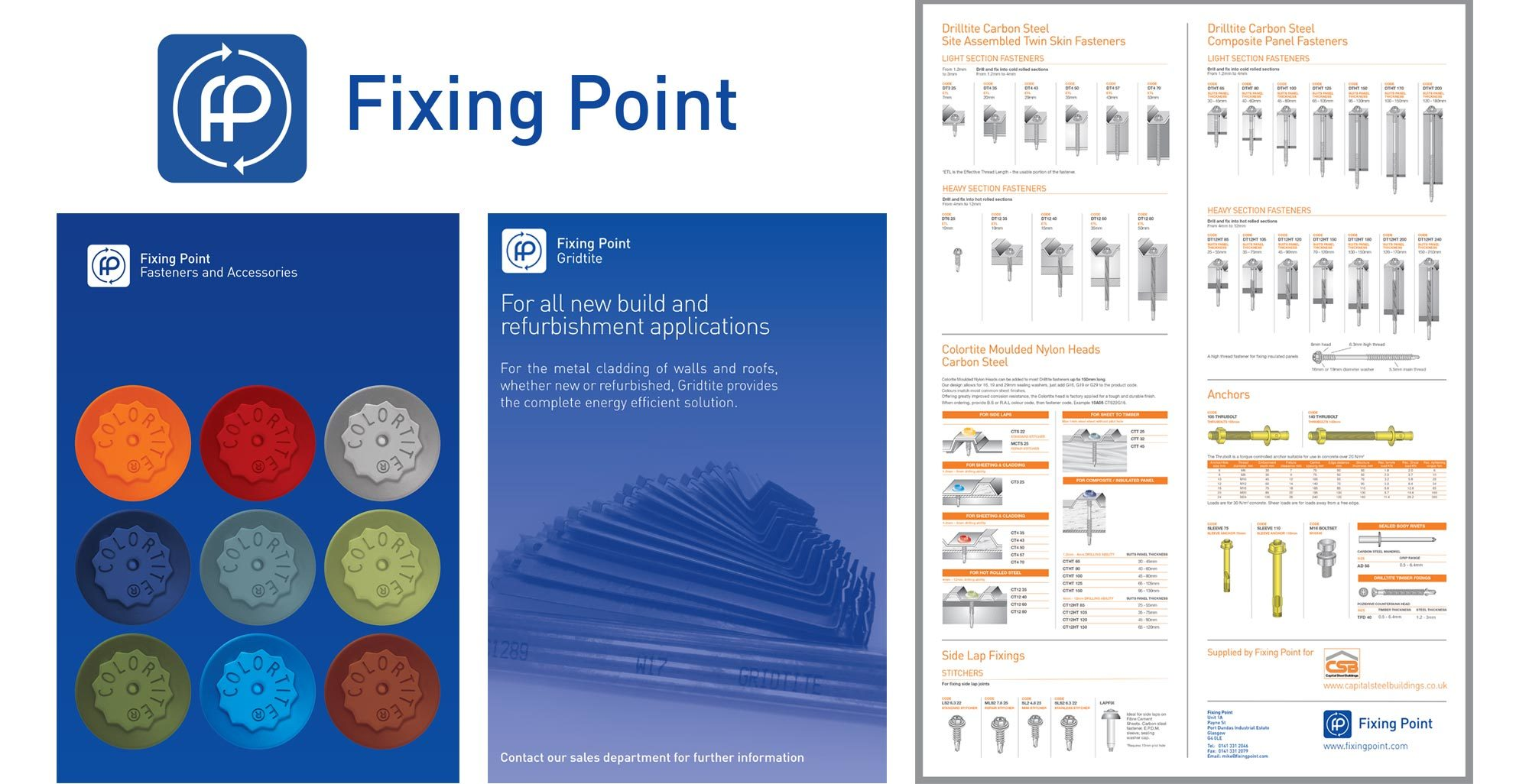 Example of the old Fixing Point brand identity