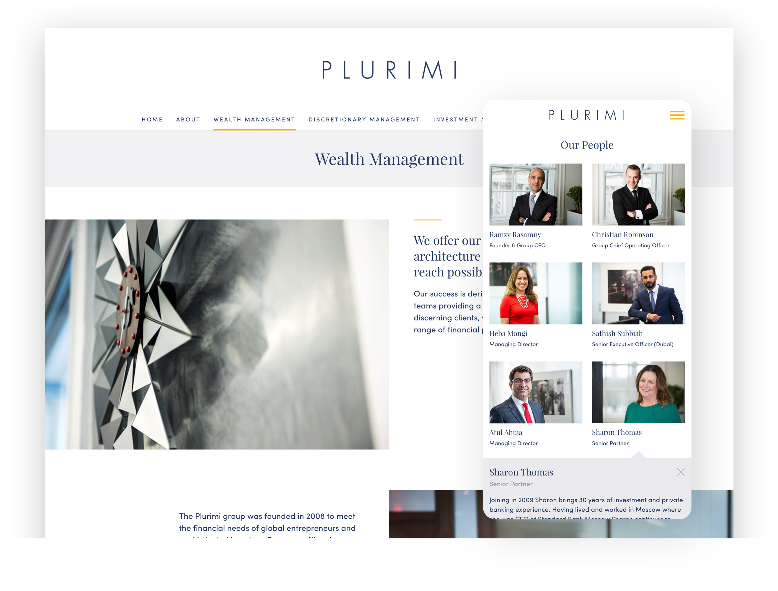 Image of the new Plurimi website